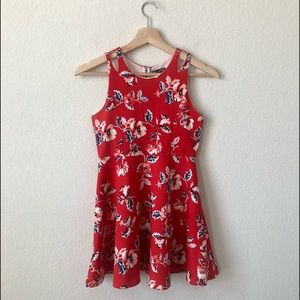 Ava & Yelly Red Floral Skater Dress